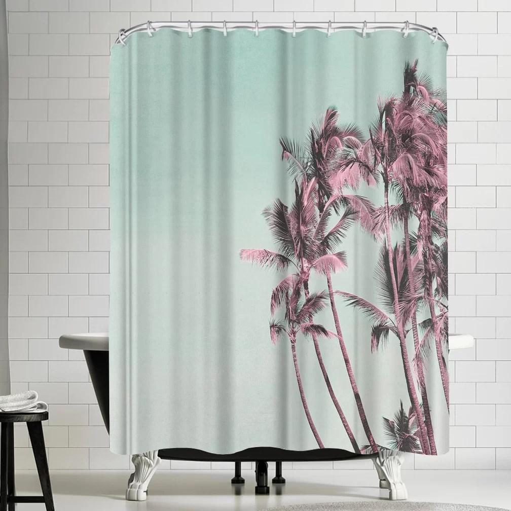 lebens art palm trees shower curtain