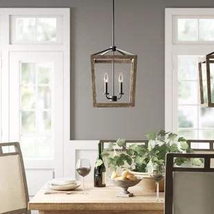 natarsha 4 light lantern geometric chandelier