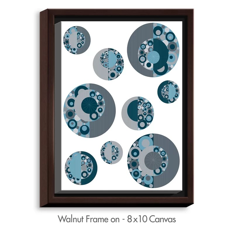 Circle Around by Valerie Lorimer Graphic Art on Wrapped Framed Canvas Size: 15.75 H x 12.75 W x 1.75 D Frame Color: Walnut