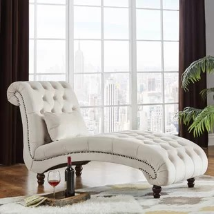 tufted chaise lounge chair how to install a hanging hammock chairs you ll love wayfair quickview