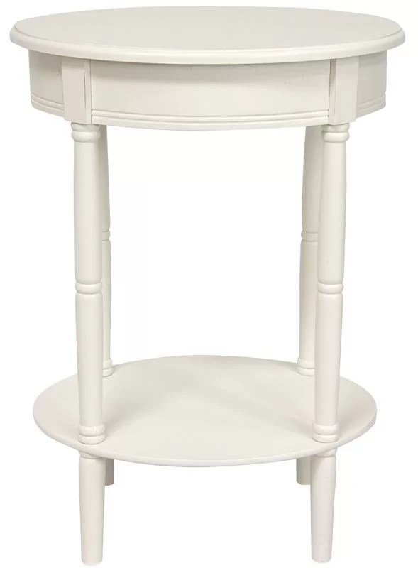 Adelphi End Table Color: White