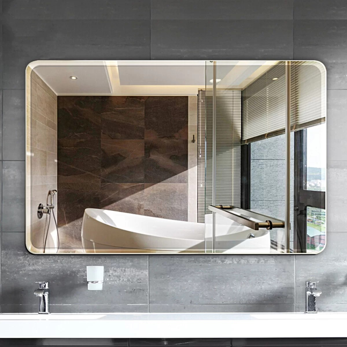 Orren Ellis Parik Modern Contemporary Frameless Bathroom Vanity Mirror Reviews Wayfair