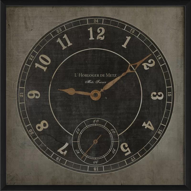 Clockface Metz II Framed Graphic Art