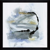 Ebern Design 'cool Water ' Framed Acrylic Painting Print