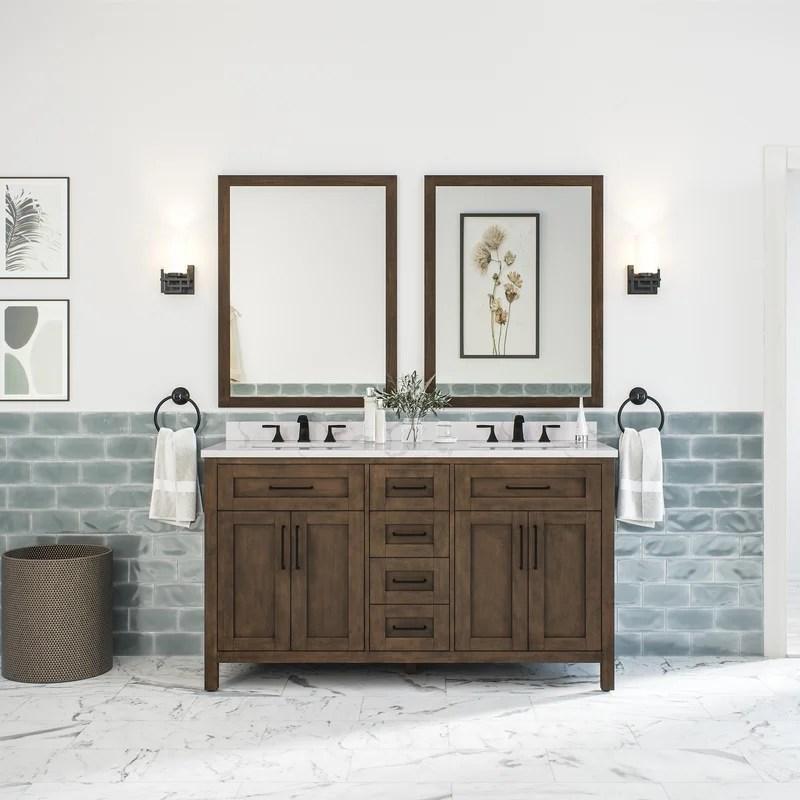 gyala 59 double bathroom vanity set with mirror