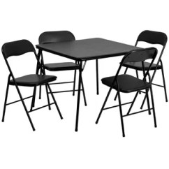 Folding Table And Chair Set High On Wheels Uk Seats Included Tables You Ll Love Wayfair 5 Piece 33 Square