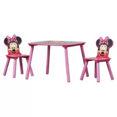 Minnie Table And Chairs Cane Occasional Delta Children Mouse Kids 3 Piece Chair Set