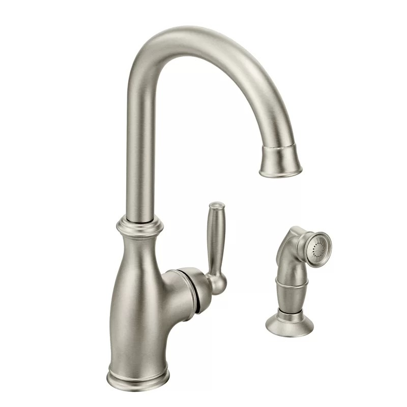 brantford pull out single handle kitchen faucet with side spray