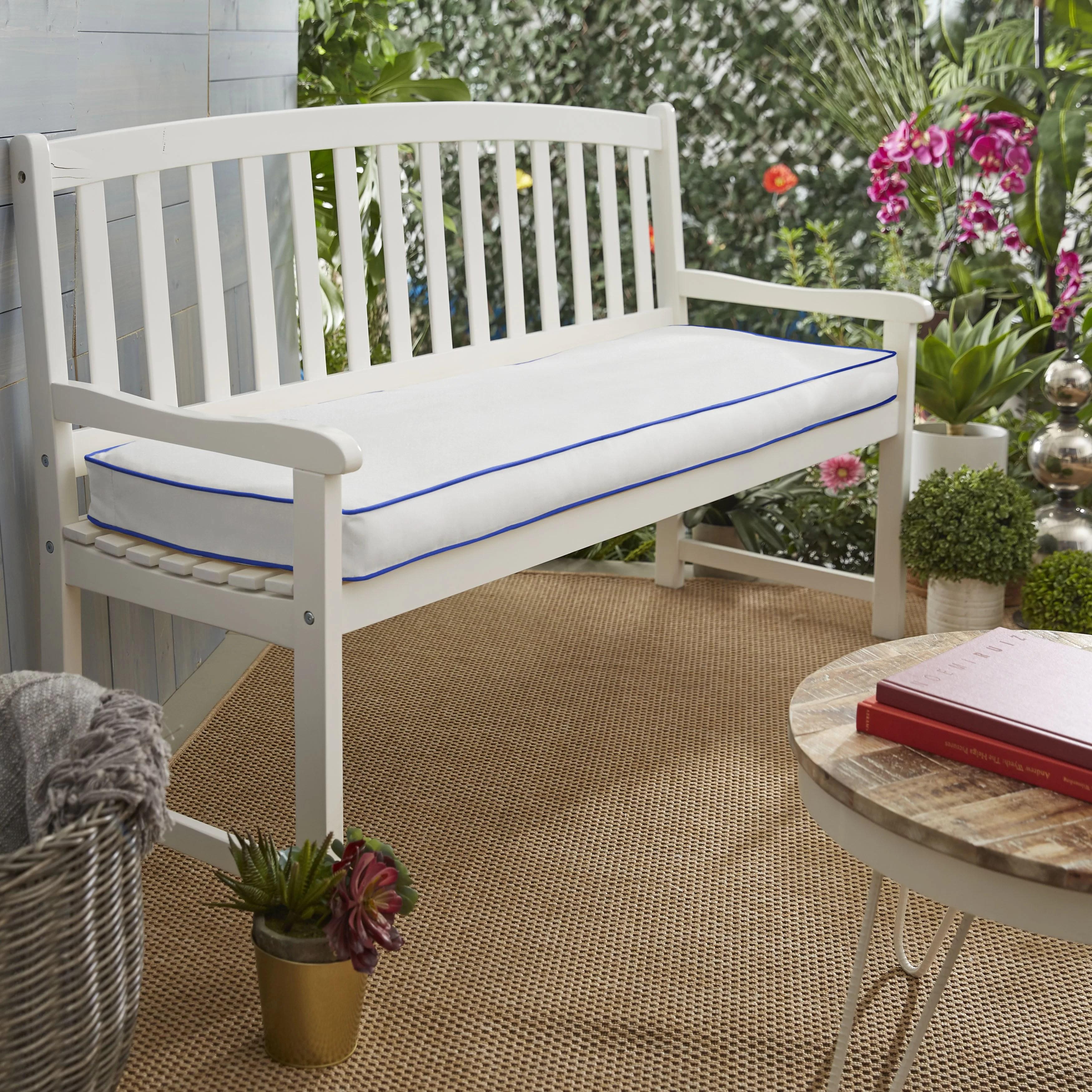 Indoor Outdoor Sunbrella Bench Cushion Joss Main