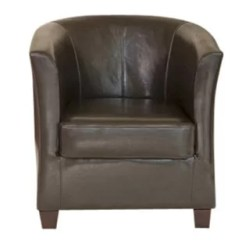 Tub Chair Brown Leather Office Chairs Clearance Real Wayfair Co Uk Quickview Black