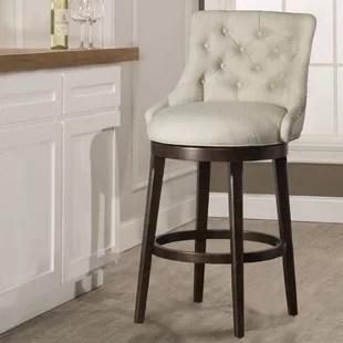 chair stool wood bean bag chairs for girls farmhouse bar stools birch lane daniel 25 swivel with cushion