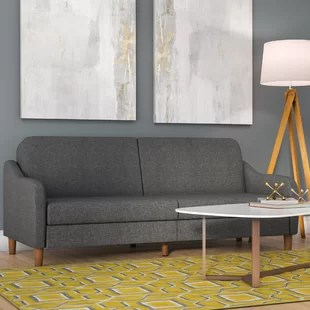 sofa befs dark gray with chaise lounge beds sleeper sofas you ll love wayfair ca save