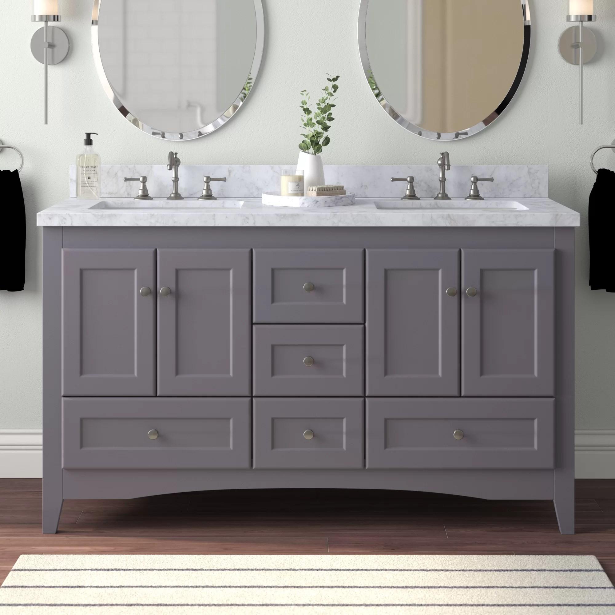 prentice 60 double bathroom vanity set