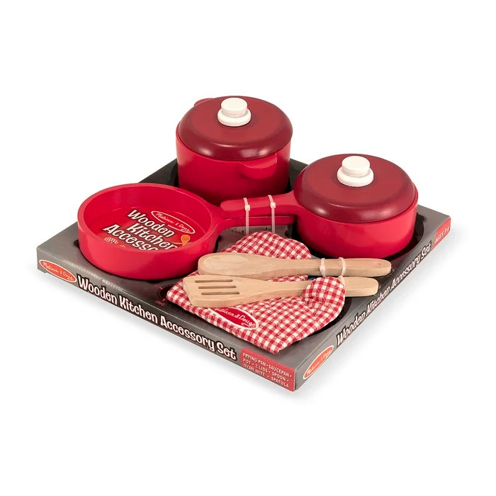 kitchen pots sink bottom grid melissa doug 8 piece play food and pans set reviews