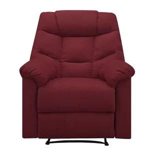 red recliner chairs lillian august recliners you ll love wayfair gertrude manual wall hugger