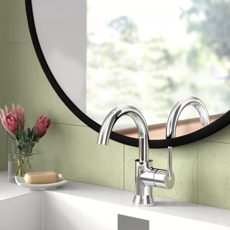 trinsic single hole bathroom faucet with drain assembly and diamond seal technology