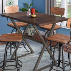 Red Counter Height Dining Chairs Hanging Porch Chair Trent Austin Design Cliff Table Reviews Wayfair