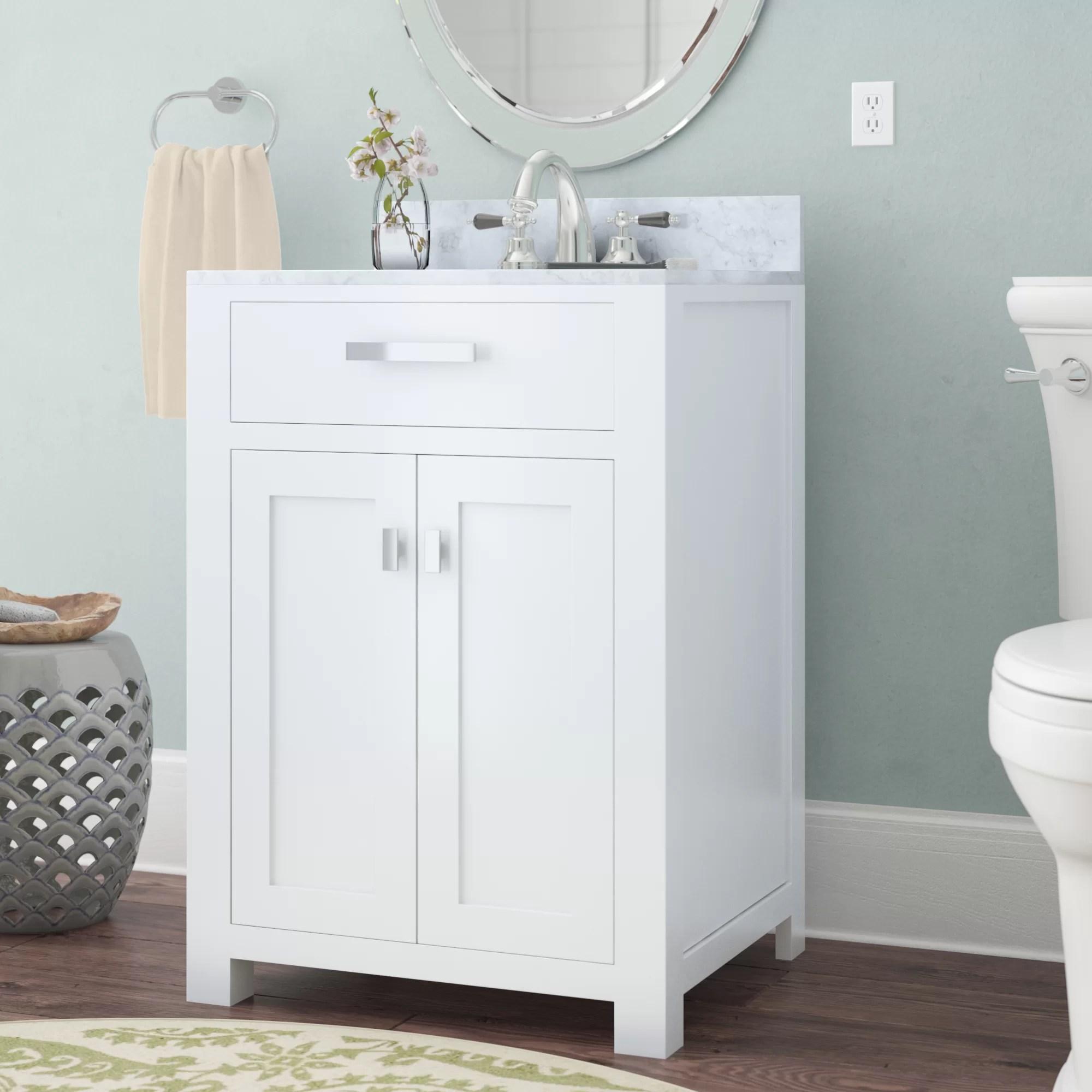 Andover Mills Minnetrista 24 Single Bathroom Vanity Set Reviews Wayfair