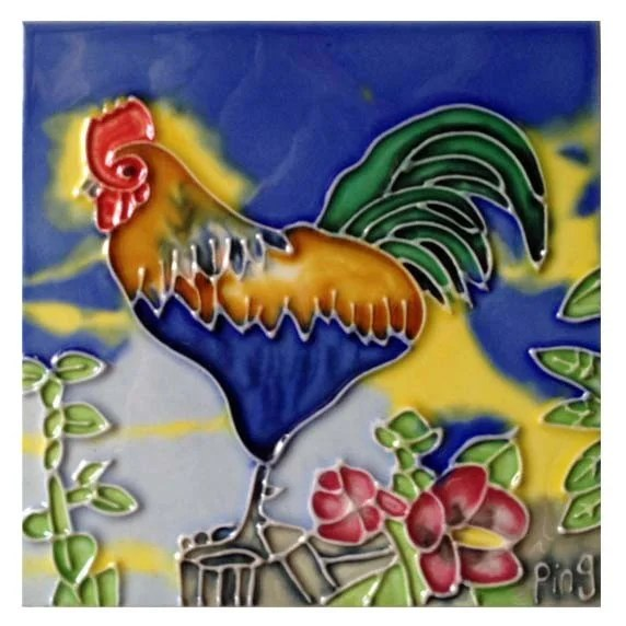 rooster kitchen decor oak table sets chicken wayfair 1 tile wall