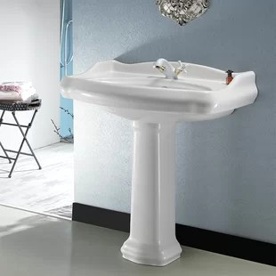 ada compliant pedestal bathroom sinks