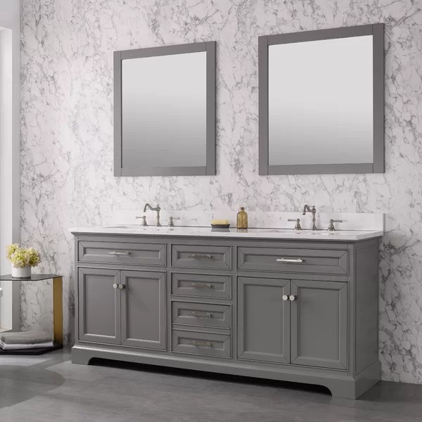 Currahee+72%22+Double+Bathroom+Vanity+Set