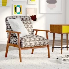 Wooden Living Room Chairs Coastal Decor Accent With Arms Wayfair Quickview