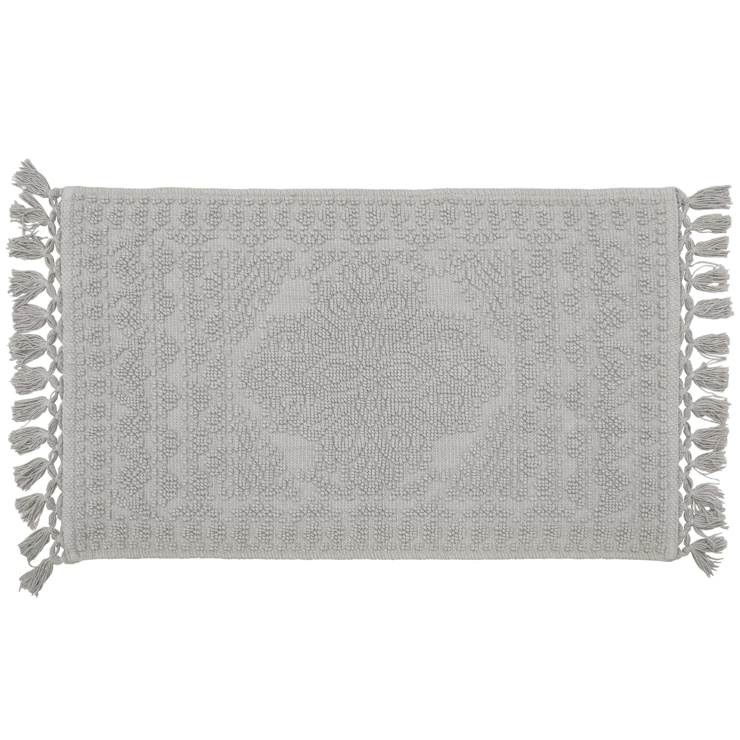 French Connection Feickert Fringe Cotton Bath Rug
