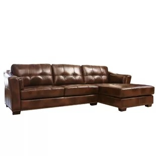 abbyson living belmont leather sofa seat covers wayfair davis right hand facing sectional by