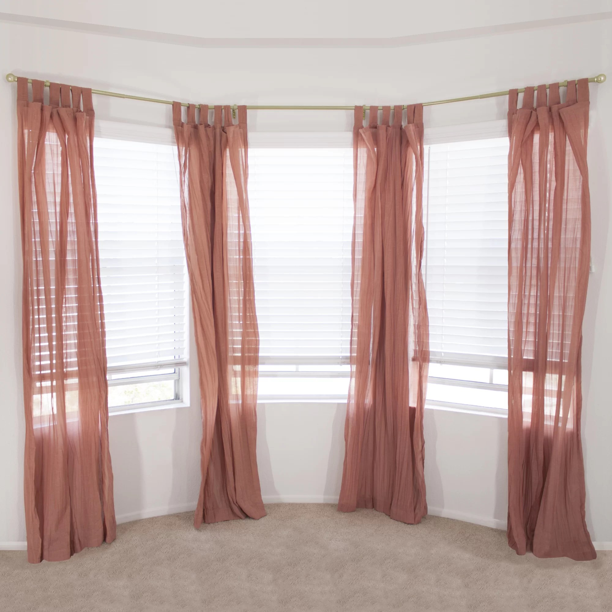 eola bay window single curtain rod