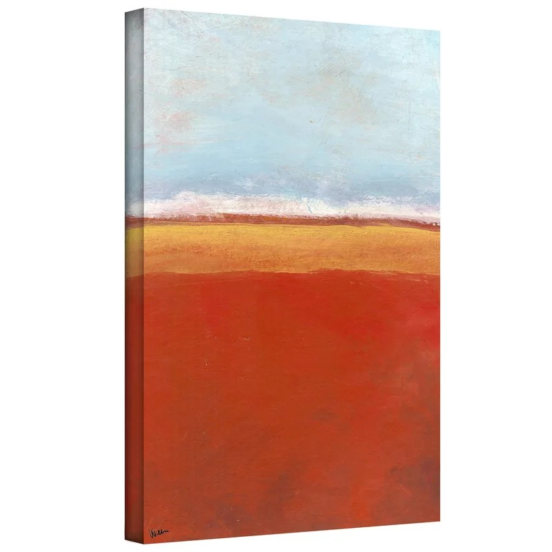 Big Sky Country IV by Jan Weiss Painting Print on Wrapped Canvas Size: 32 H x 24 W
