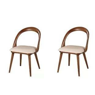 mid century dining chairs boy potty chair midcentury wayfair saliba set of 2