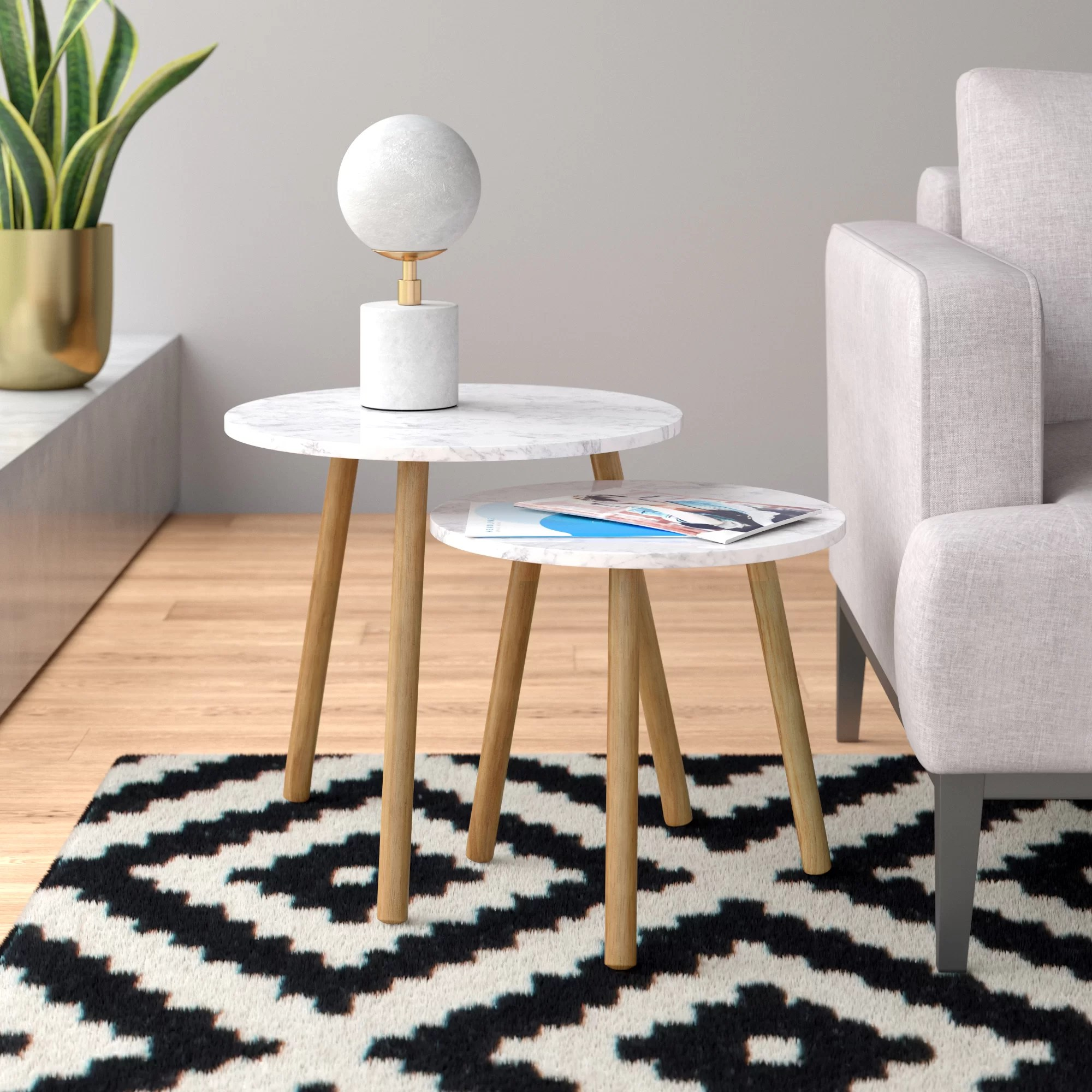 Benton 2 Piece Nesting Tables Reviews Allmodern