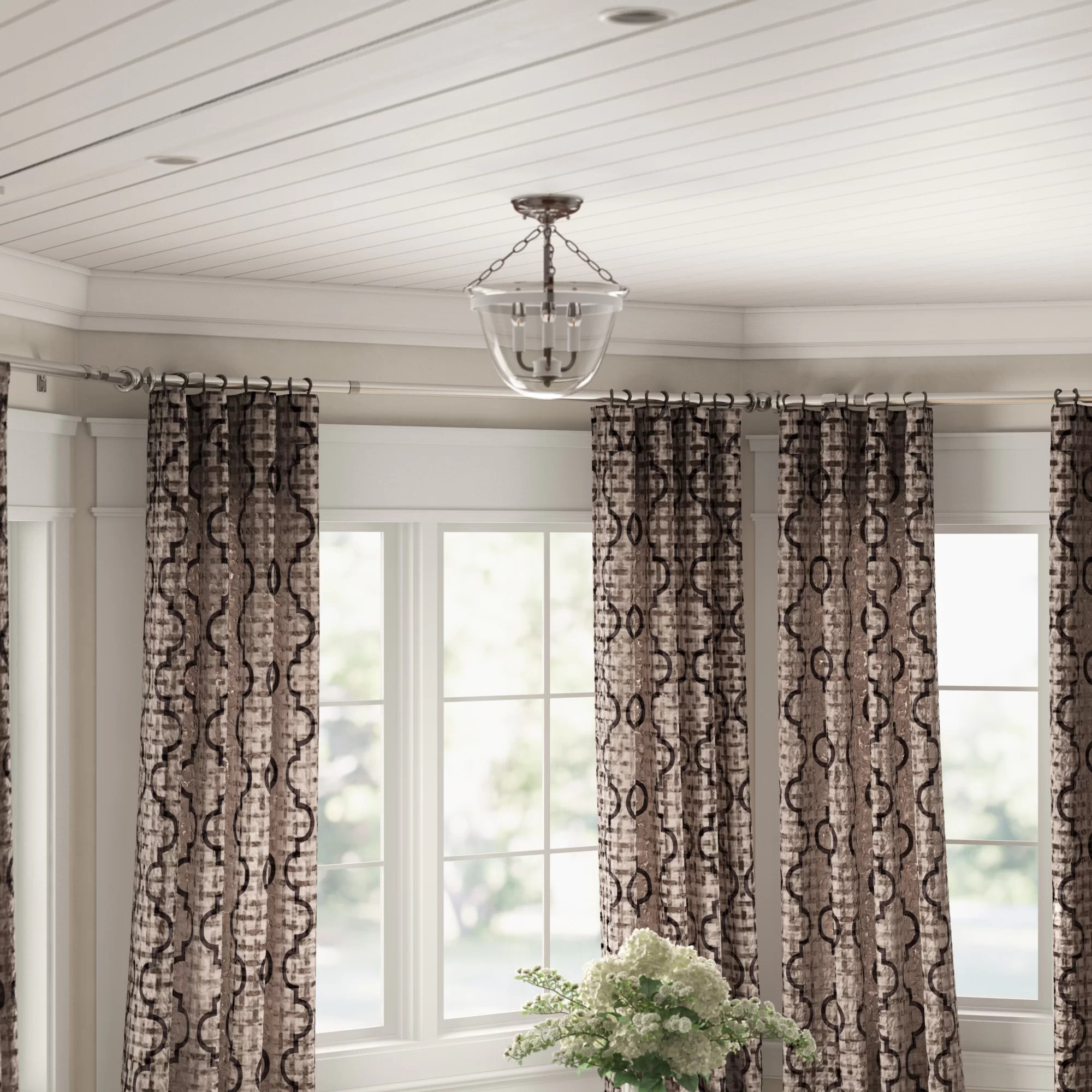 Winston Porter Leavy Bay Window Single Curtain Rod Hardware Set Reviews