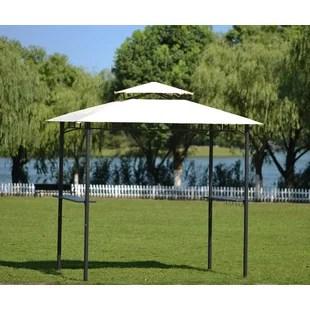 instock 8 5 ft w x 5 ft d steel grill gazebo canopy by keepwalking
