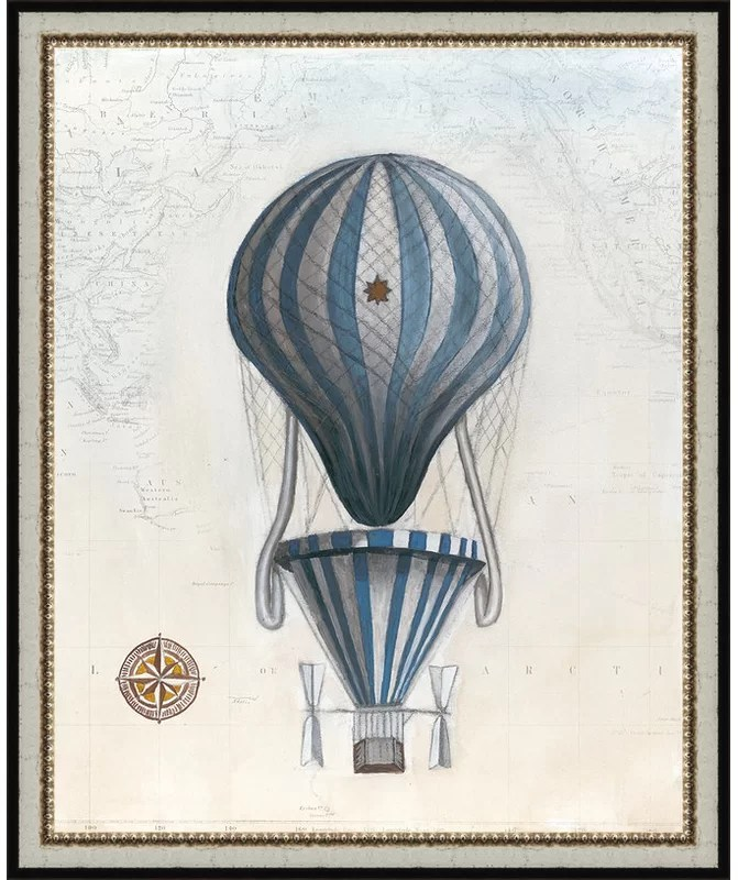 Trends Vintage Hot Air Balloons IV Framed Graphic Art