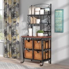 Kitchen Bakers Rack Cabinet Drawer Hardware Small Wayfair Quickview