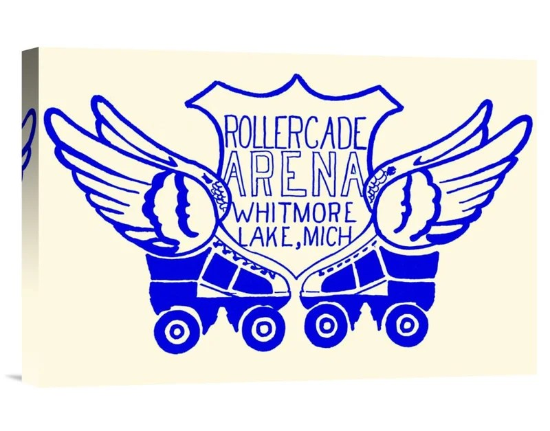 Rollercade Arena by RetroRollers Vintage Advertisement on Wrapped Canvas