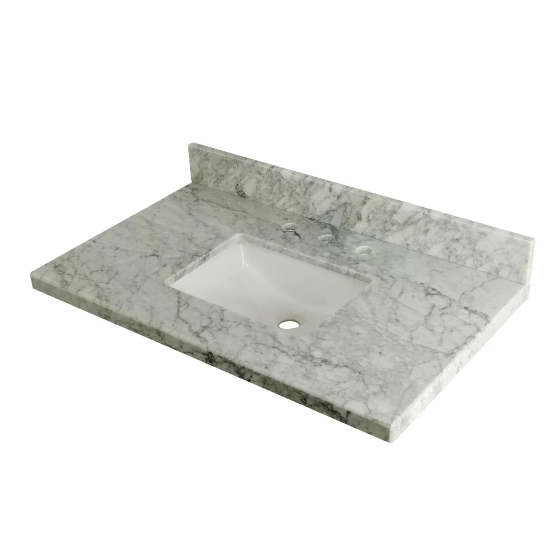 templeton carrara marble 36 single bathroom vanity top