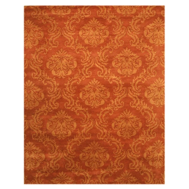 Lebanon Hand-Tufted Rust Area Rug Rug Size: 79 x 99