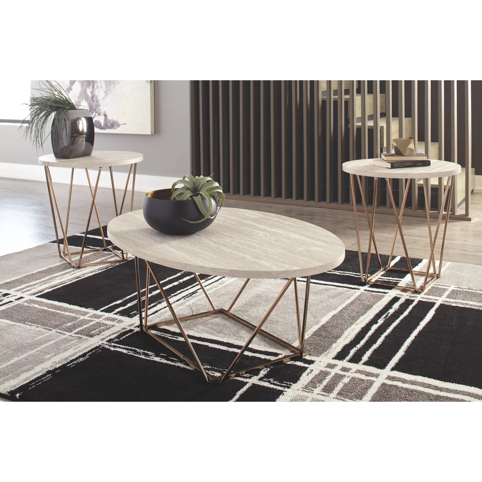 oval coffee table sets you ll love in