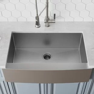 sinks kitchen led lighting modern allmodern 36 l x 21 w farmhouse sink with drain assembly