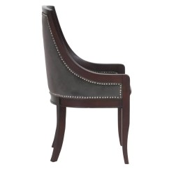 Nailhead Upholstered Dining Chair Linen Covers Australia Darby Home Co Adebay Wayfair