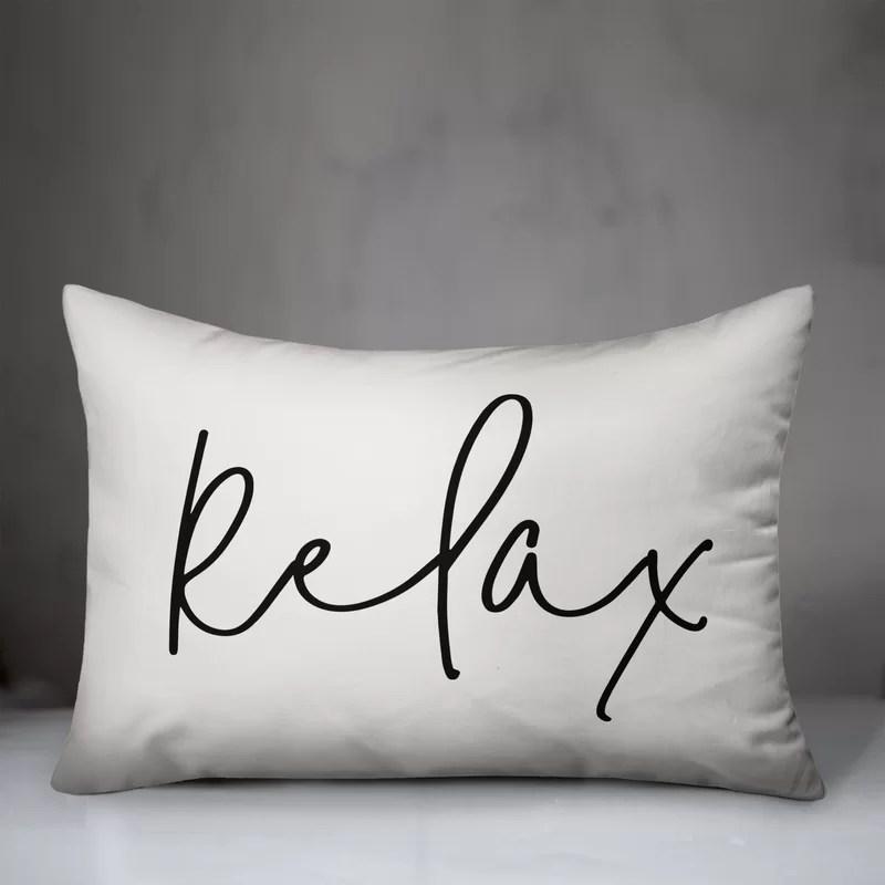 Mcgee Relax Thin Outdoor Rectangular Pillow Cover & Insert