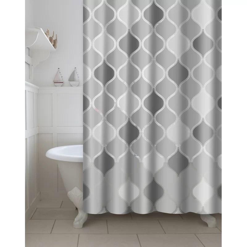 morelia vinyl 13 piece geometric shower curtain set hooks