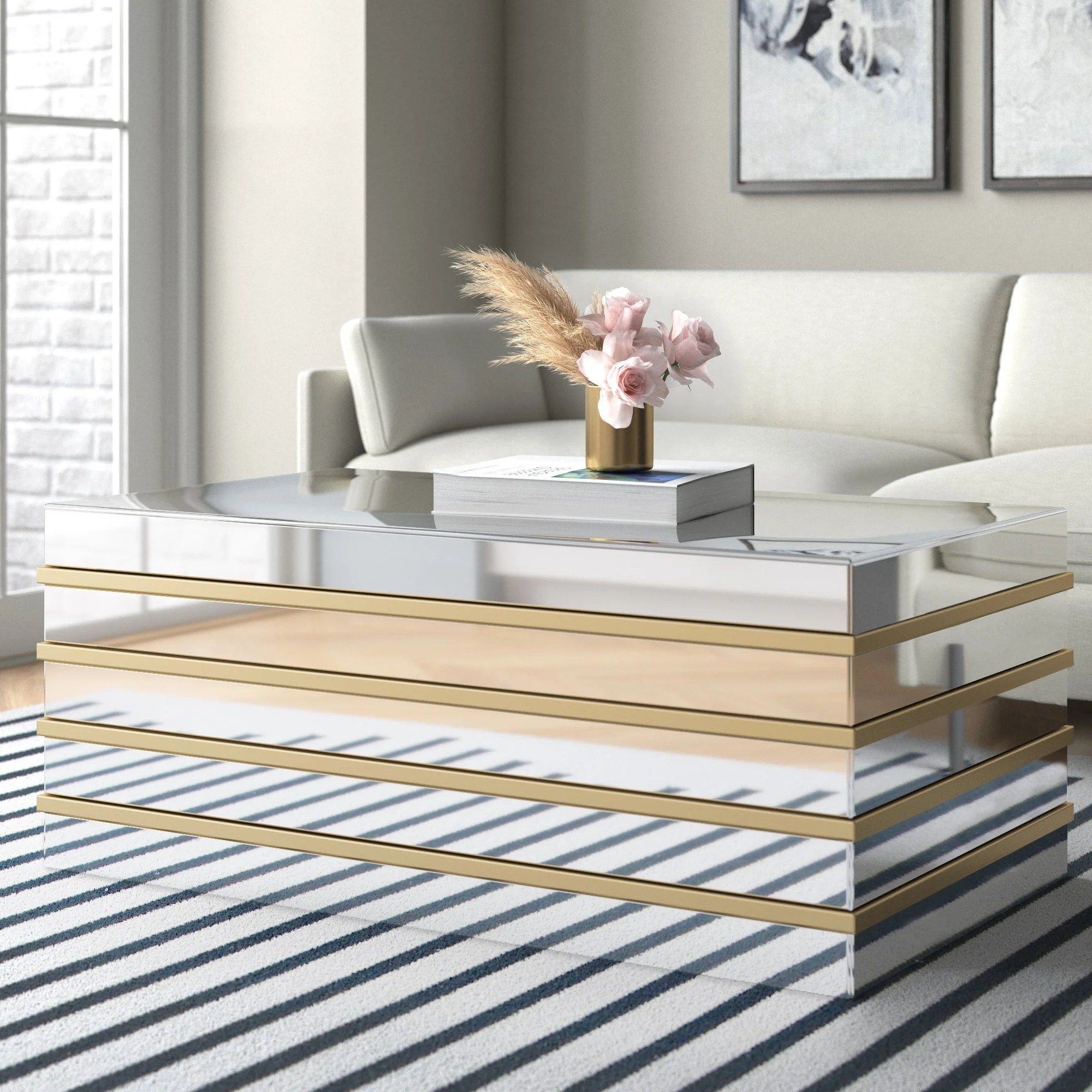 mirrored coffee tables up to 65 off
