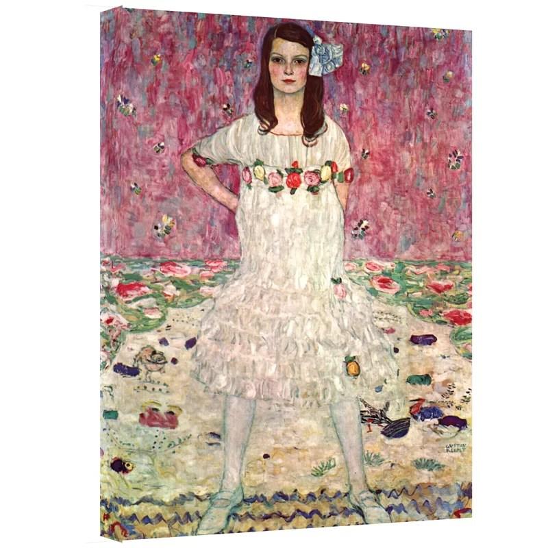 Eugenia Primavesi by Gustav Klimt Print of Painting on Canvas Size: 18 H 24 W