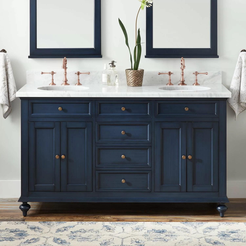 keller marble 61 double bathroom vanity set