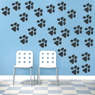 paw print wall decals