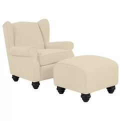 Chair With Ottoman Faux Leather Sets Joss Main Quickview
