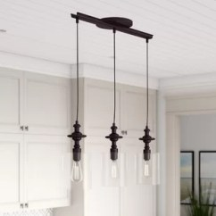 Kitchen Island Lighting Islands For Small Kitchens You Ll Love Wayfair Humphries 3 Light Pendant